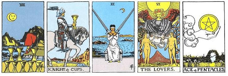 Ejemplo lectura tarot 5 cartas